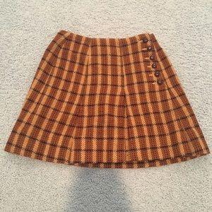 Vintage 60s/70s plaid wool skirt